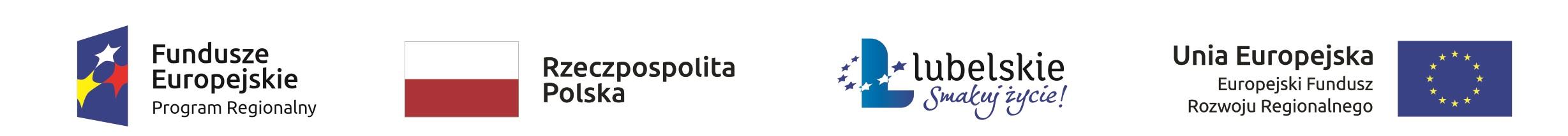 Logo Fundusze Europejskie, Rzeczpospolita Polska, Lubelskie - smakuj życie, Unia Europejska