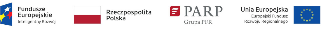 Logo Fundusze Europejskie, Rzeczpospolita polska, PARP - Grupa PFR, Unia Europejska